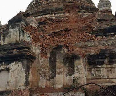 แผ่นดินไหวที่พม่า 6.8 ริกเตอร์ ล่าสุดพบผู้เสียชีวิตแล้ว 4 ราย เจดีย์ที่พุกามเสียหายกว่า 185 แห่ง