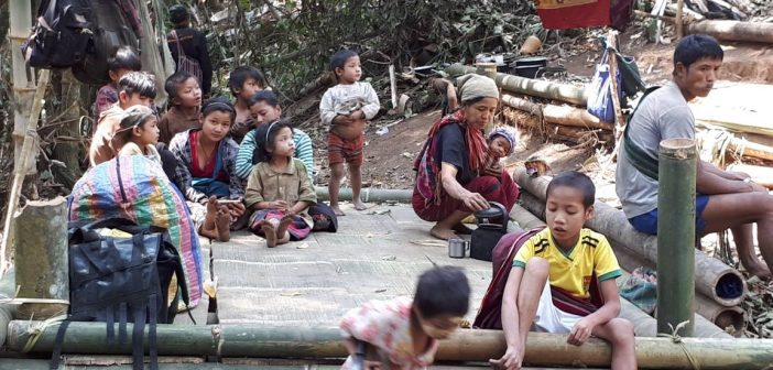 วอนกองทัพพม่าหยุดขยายพื้นที่ ชาวบ้านกะเหรี่ยงเดือดร้อนหนักหนีตายเข้าป่านับพัน