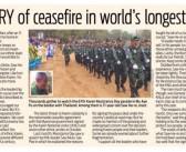 Karen WARY of ceasefire in world's longest civil war