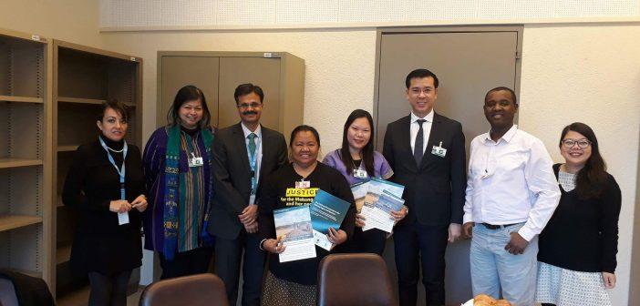 เวทียูเอ็นถกใหญ่ธุรกิจและการระเมิดสิทธิมนุษยชน ตัวแทนภาคประชาสังคมไทยหยิบยกปัญหาผลกระทบข้ามแดนจากการลงทุนร่วมสานเสวนากลุ่มย่อย แนะ 3 ข้อเสนอรัฐบาลไทย