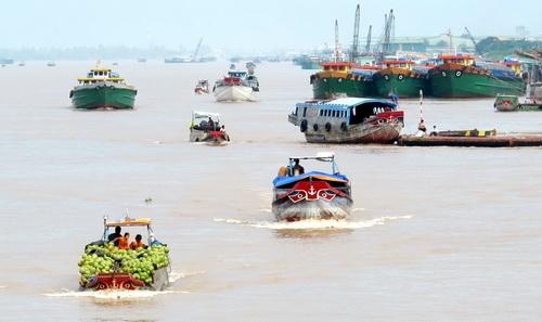 """ส่วนหนึ่งของ """"กิ๋วล่อง"""" มังกรเก้าหาง แม่น้ำโขงแตกสาขาออกสู่ทะเลที่สามเหลี่ยมปากแม่น้ำ"""