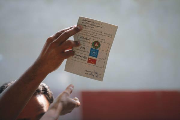 ภาพจาก Facebook Page Myanmar election 2015