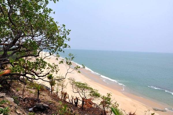 ภาพหาดทะเลทวายซึ่งอยู่ใกล้จุดก่อสร้างท่าเรือส่วนหนึ่งของเขตเศรษฐกิจ โดย โลมาอิรวดี