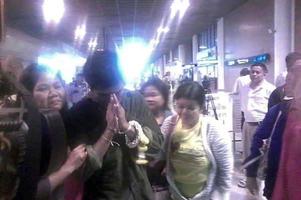 คนงานที่ได้รับการช่วยเหลือและถูกส่งตัวกลับคืนประเทศไทย